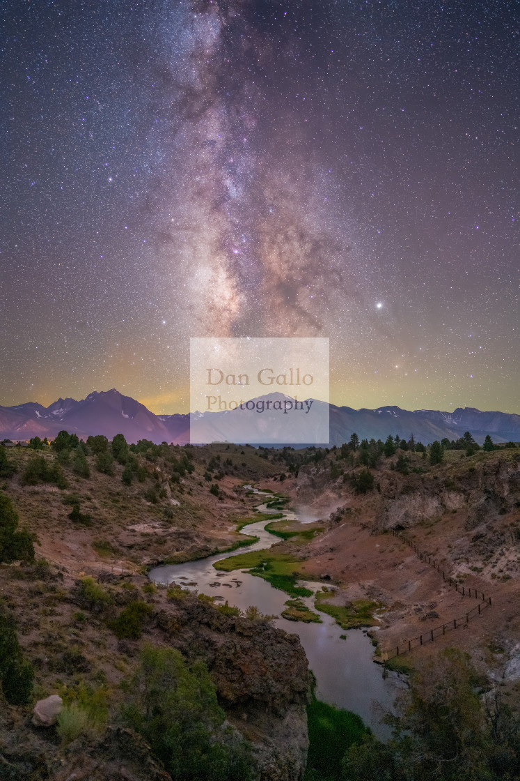 """Hot Creek Milky Way"" stock image"