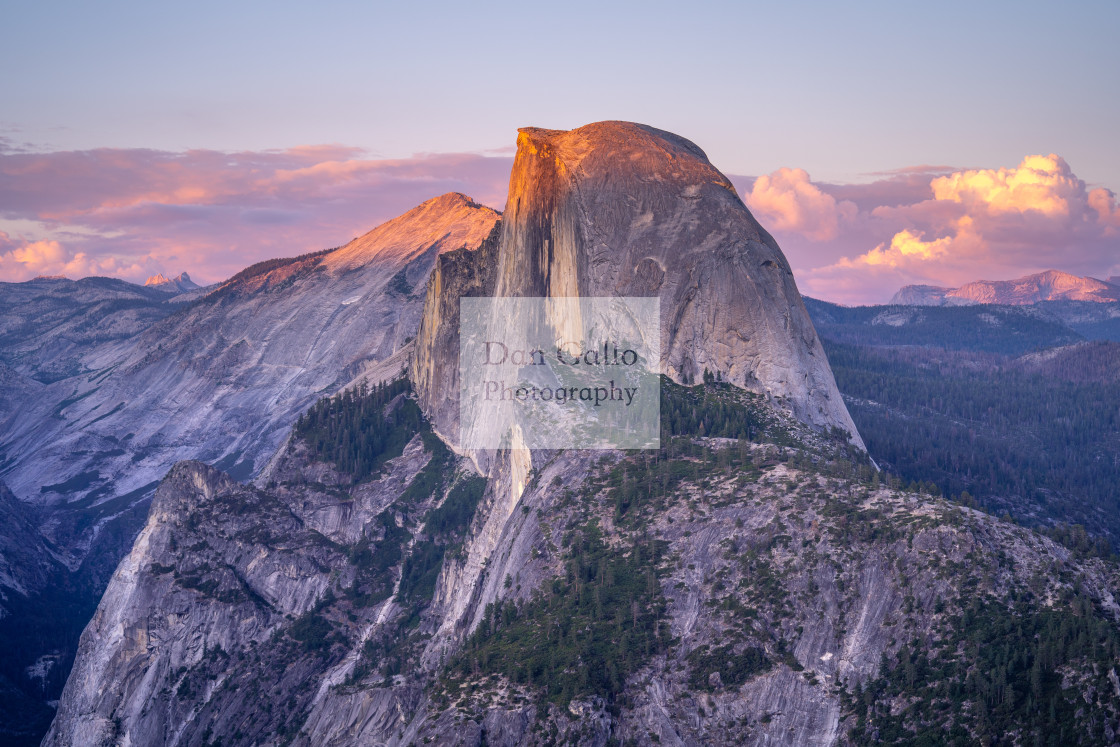 """Yosemite Half Dome Sunset"" stock image"