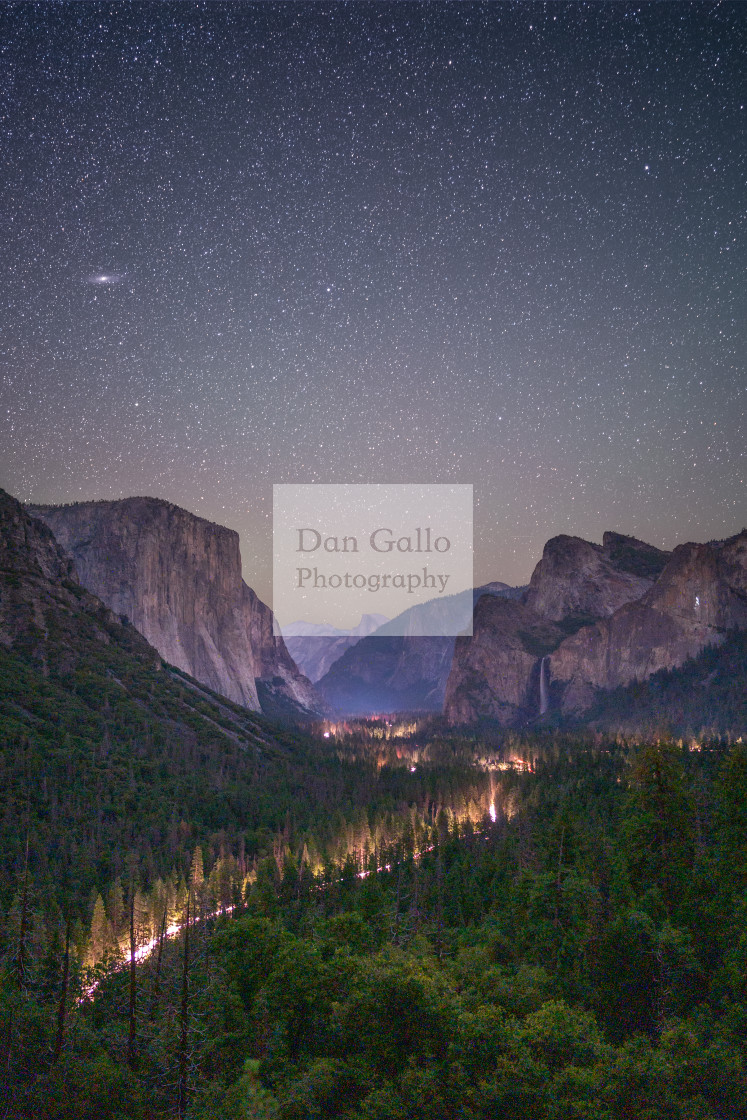"""Yosemite Valley at Night"" stock image"