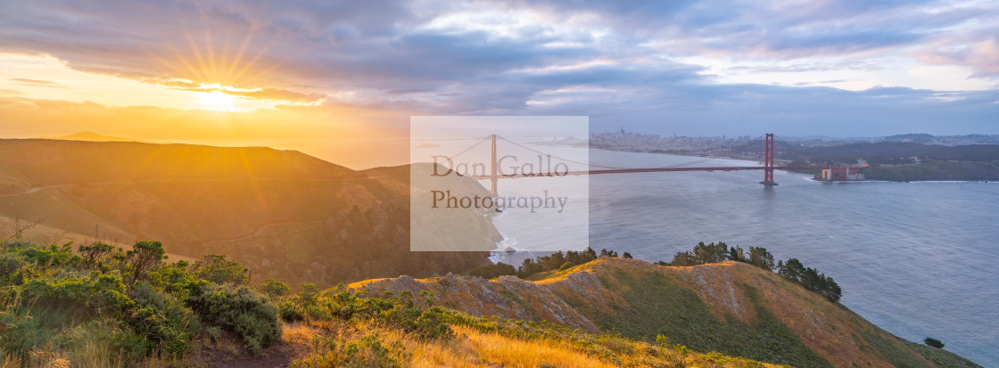 """San Francisco Sunrise (panorama)"" stock image"