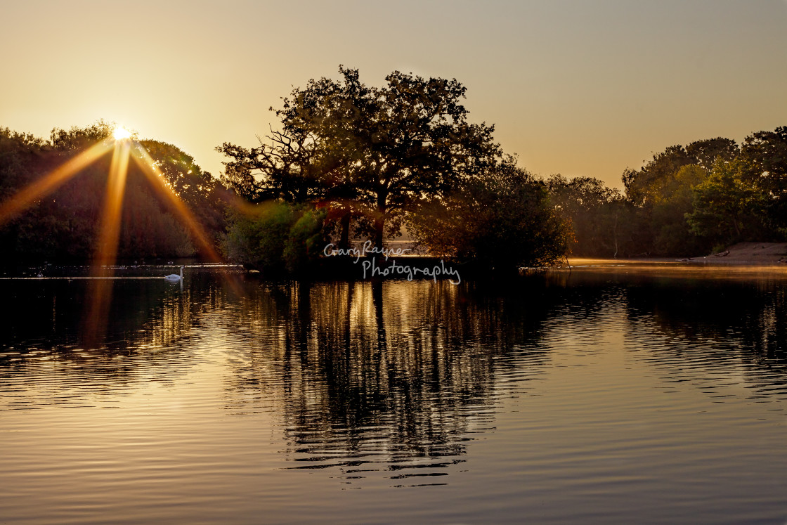 """Sunrise Hollow Ponds UK"" stock image"