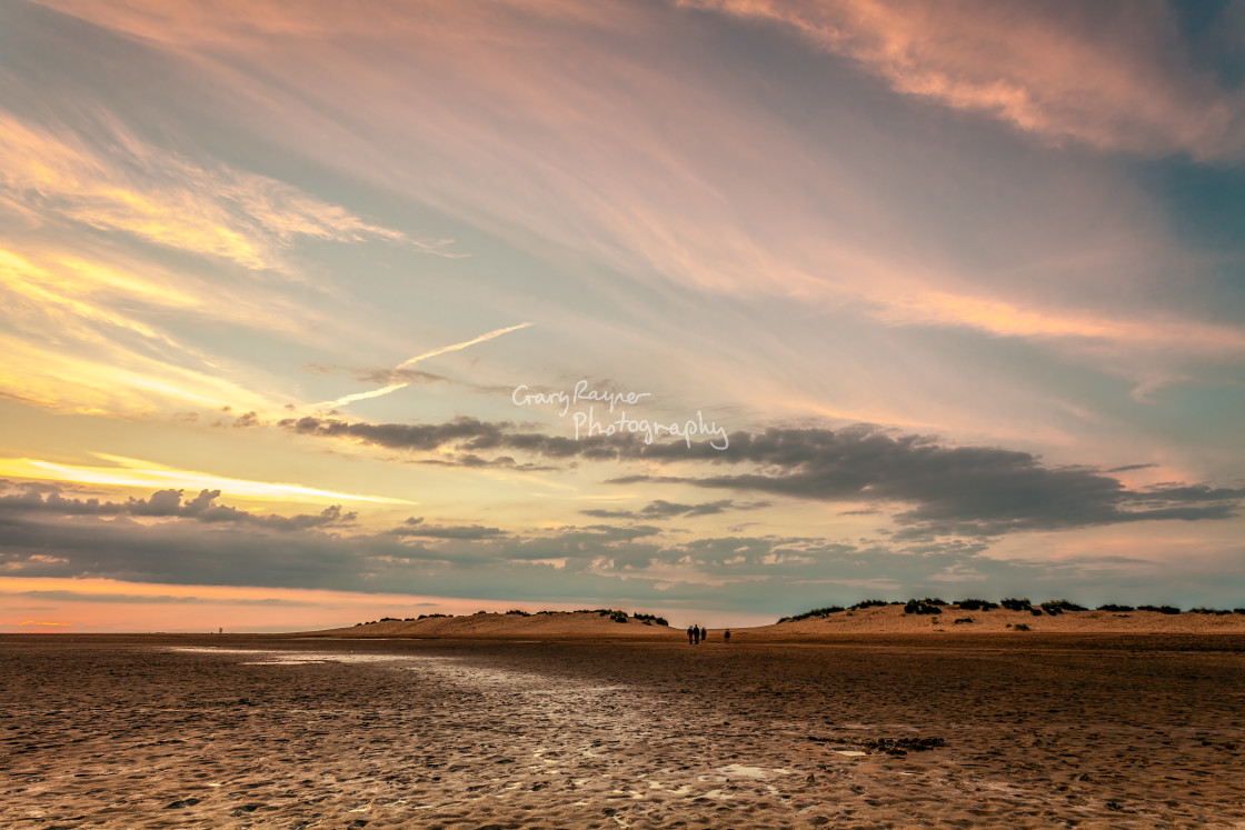 """Wells Beach Sunset"" stock image"