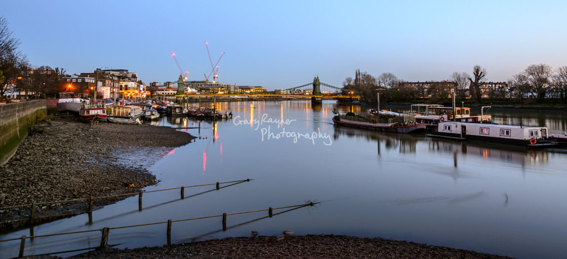 """River Thames at Twilight"" stock image"