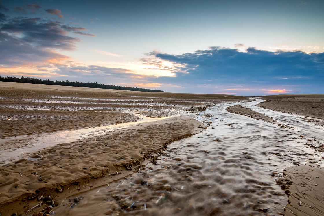 """""""Wells Beach Norfolk Water Flow"""" stock image"""