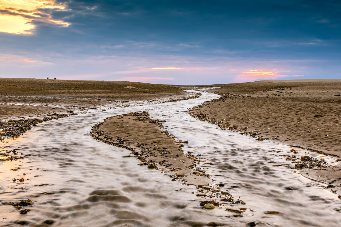 """Wells Beach Norfolk Water Flow"" stock image"