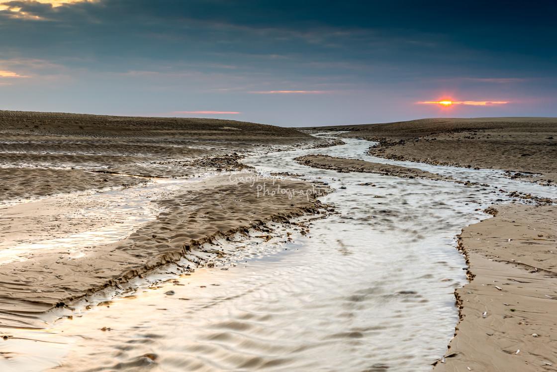 """Wells Beach Norfolk"" stock image"
