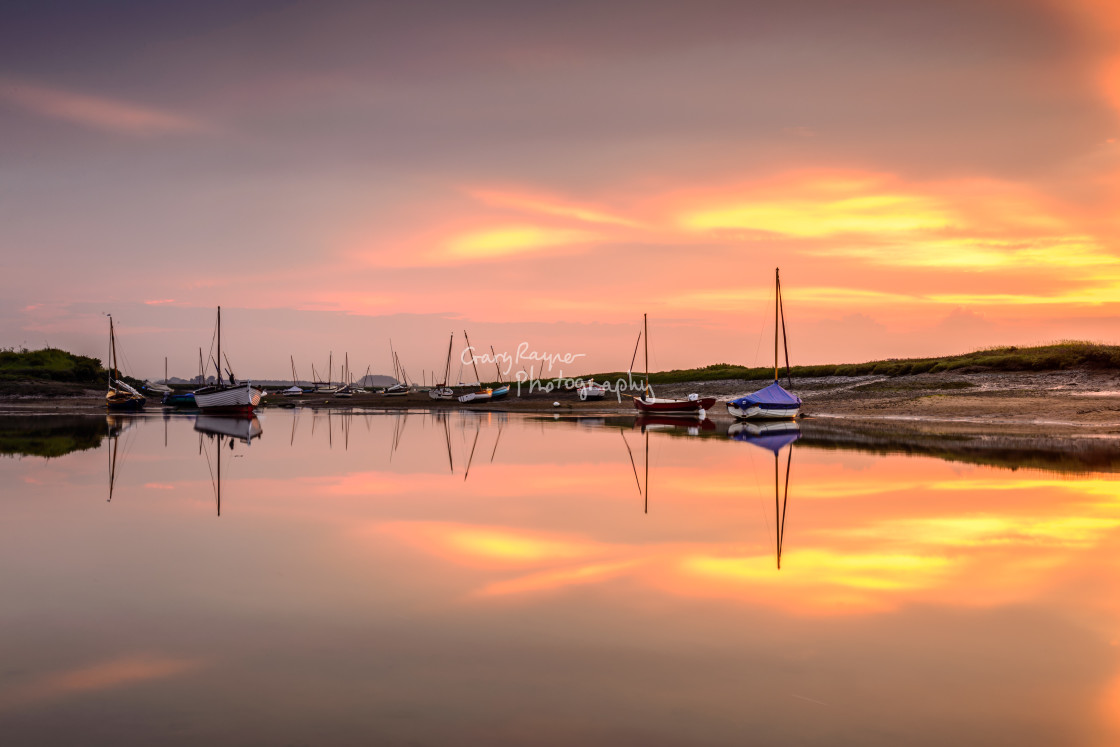 """Burnham Overy Staithe Sunset"" stock image"