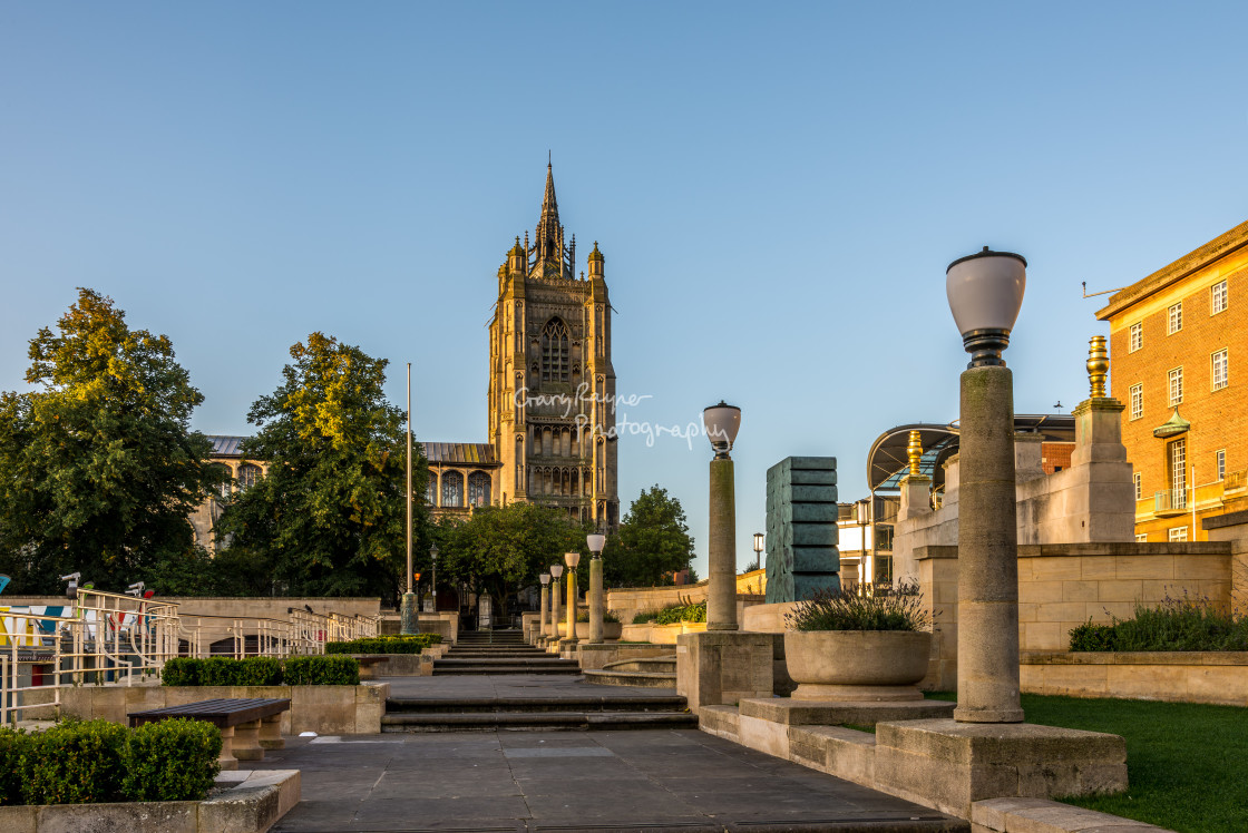 """""""Early Morning Norwich"""" stock image"""