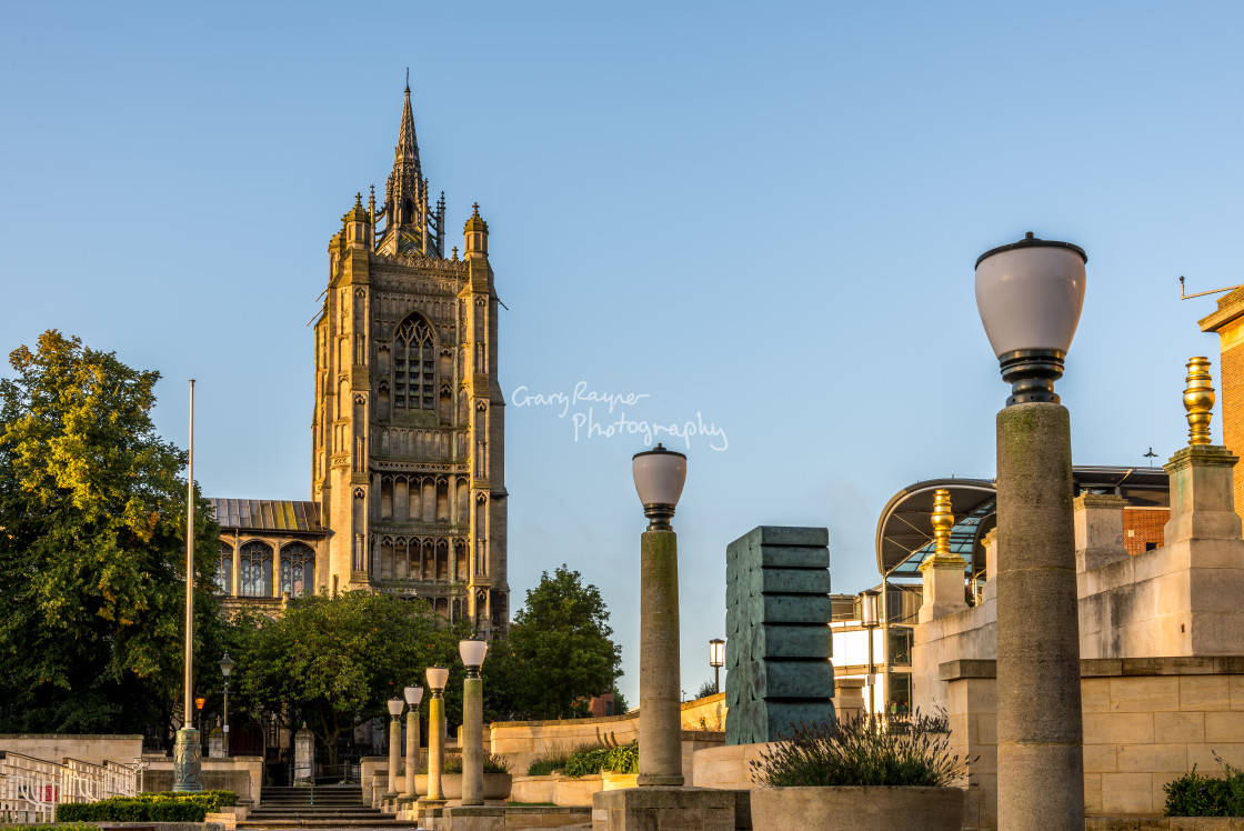 """Early Morning Norwich"" stock image"