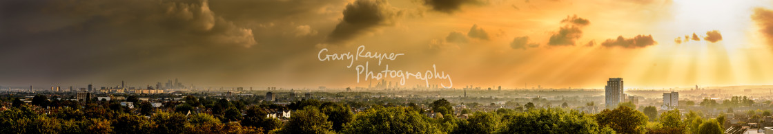 """London Autumn Light Panoramic"" stock image"