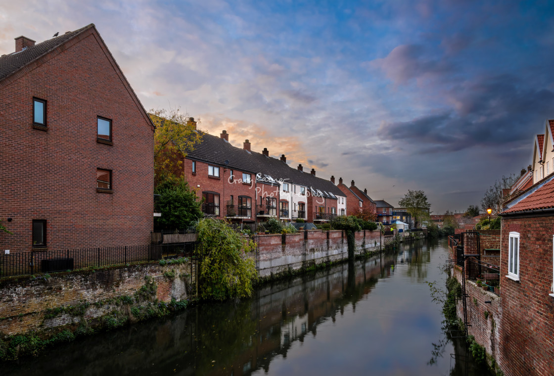 """""""Norwich by the River"""" stock image"""