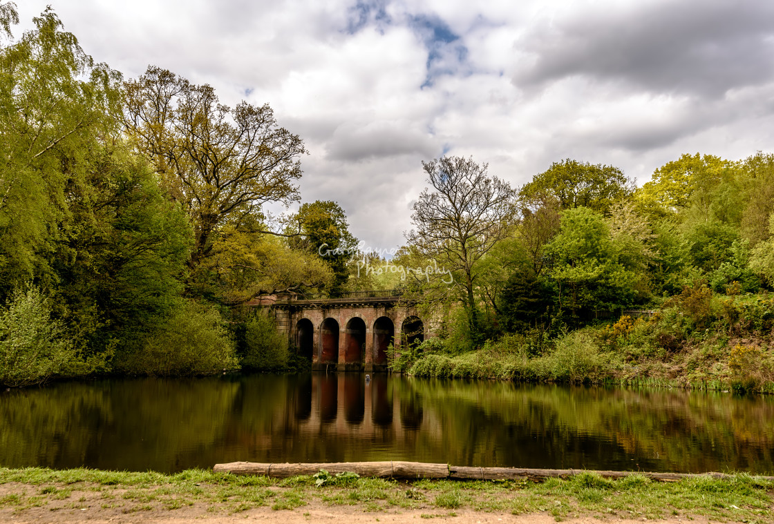 """The Viaduct Pond"" stock image"