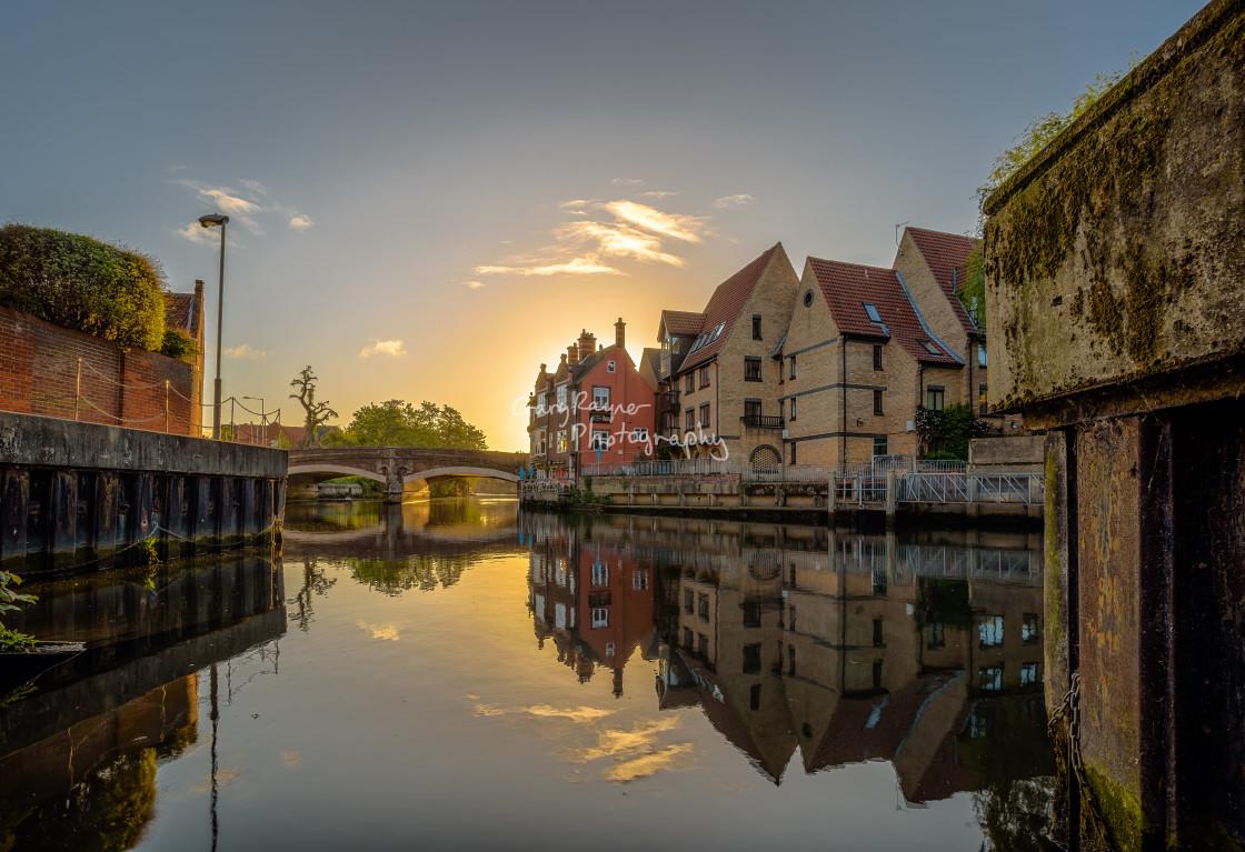 """Norwich Sunrise"" stock image"