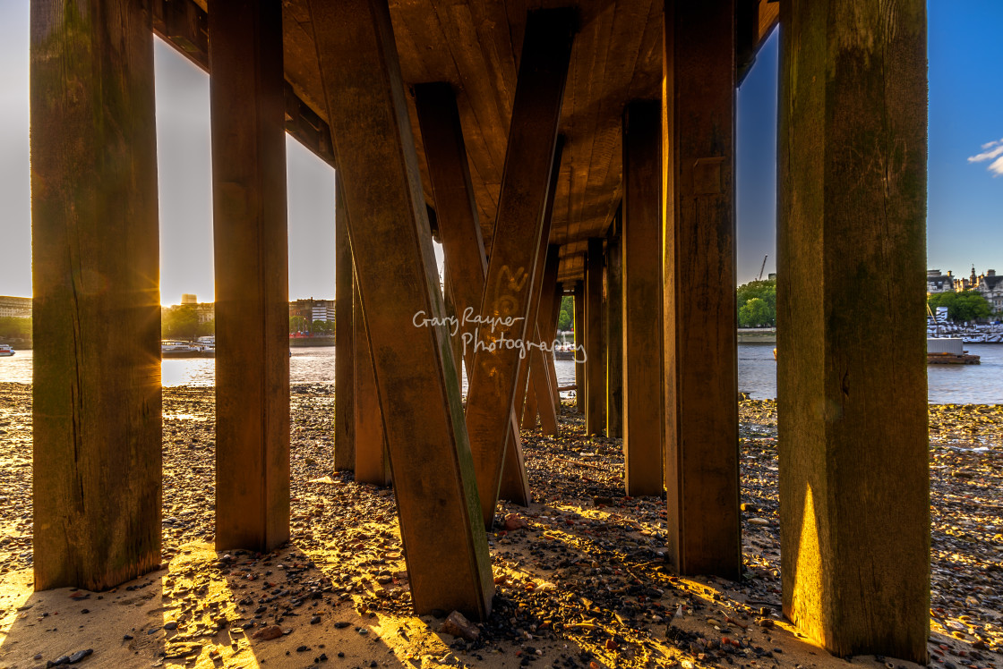 """Thames Pier"" stock image"