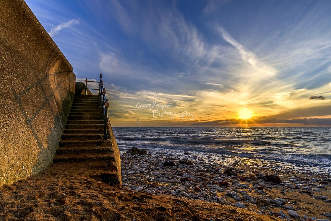 """Hunstanton Beach"" stock image"