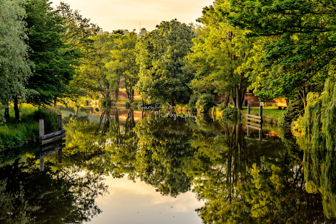 """""""Morning on the Wensum"""" stock image"""