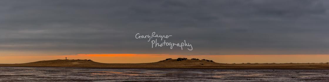 """Wells Dunes Sunset"" stock image"
