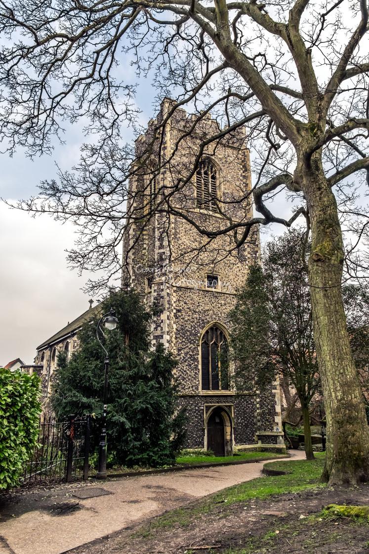"""St Johns Norwich"" stock image"