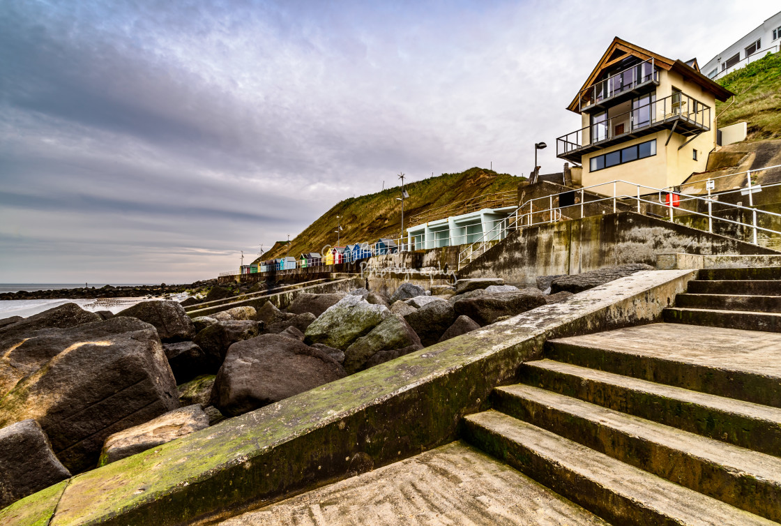 """Sheringham Sea Front"" stock image"