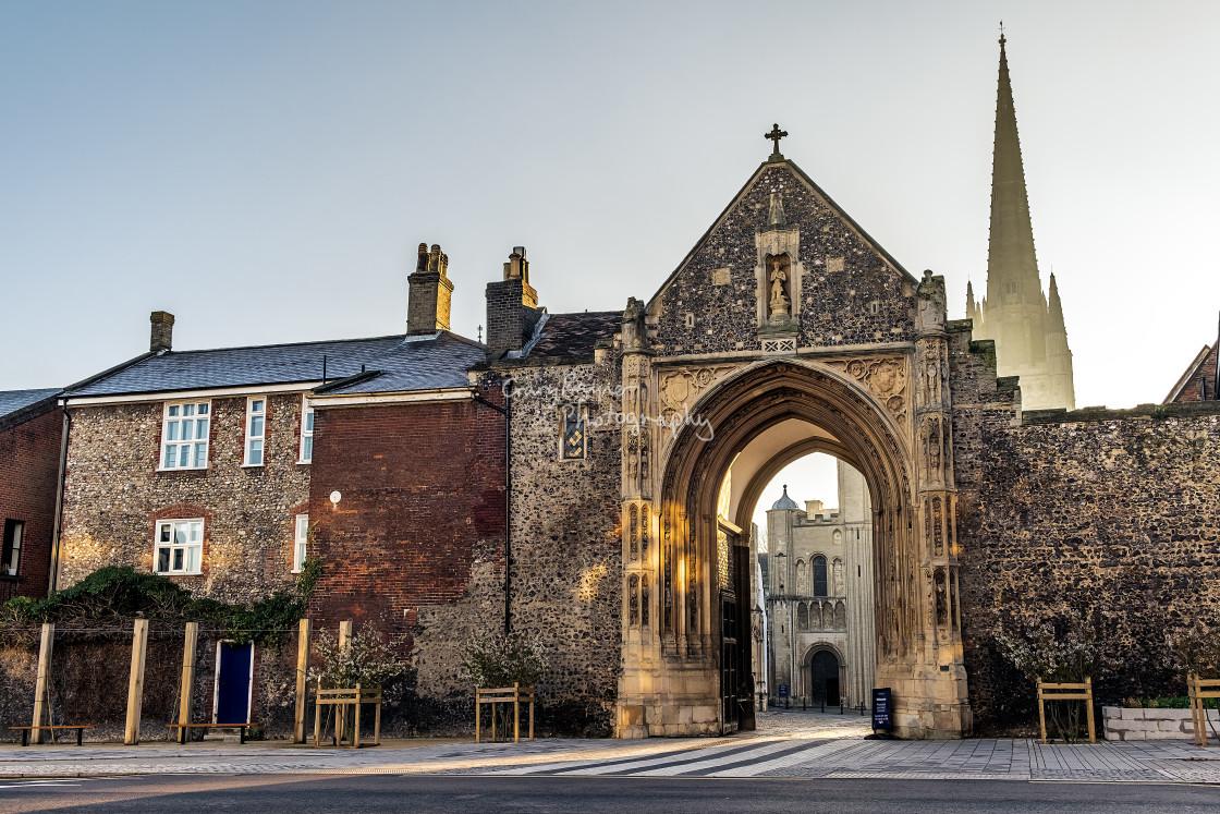 """The Erpingham Gate"" stock image"
