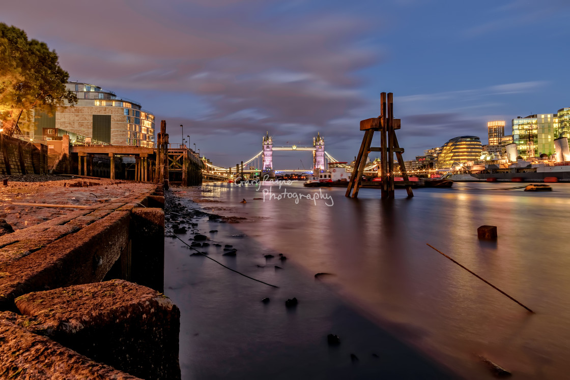 """London at Low Tide"" stock image"