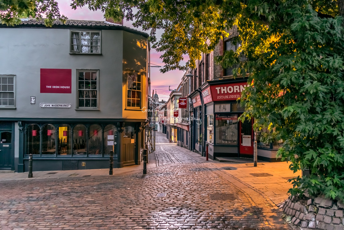 """""""Cobbled Streets"""" stock image"""