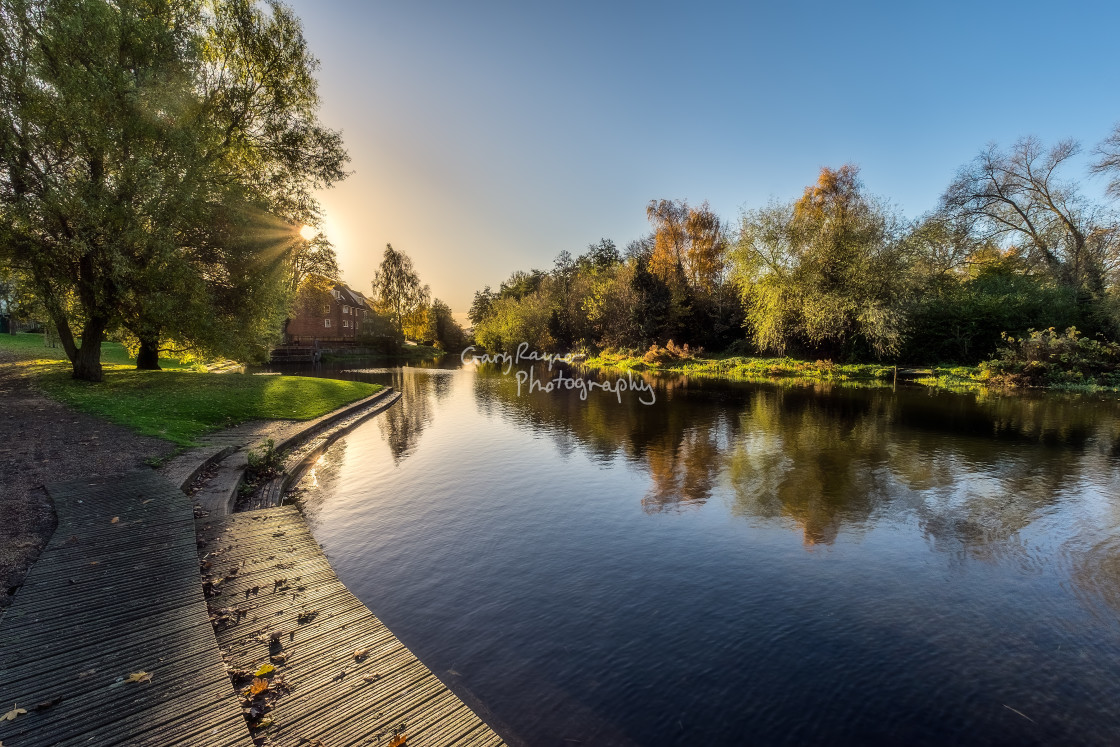 """""""Perfect Reflections River Wensum"""" stock image"""