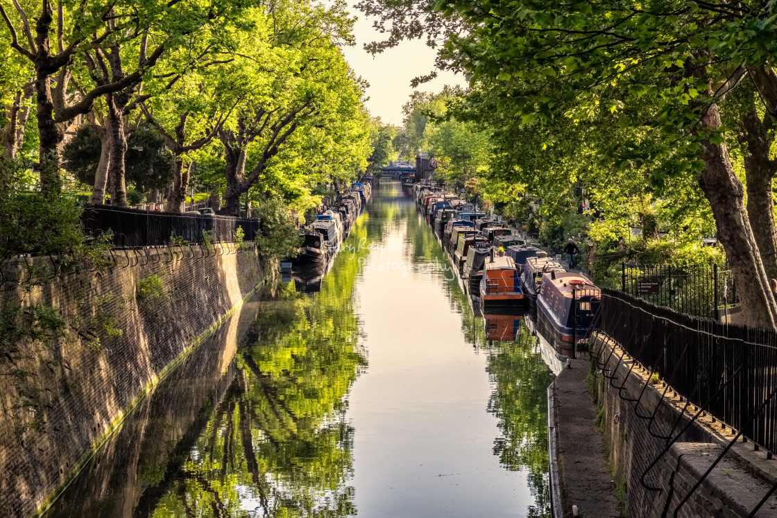 """Regents Canal View"" stock image"