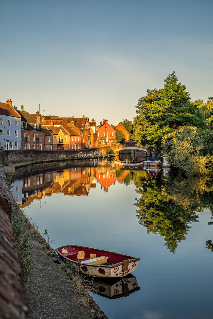 """Norwich Quay Sunrise"" stock image"