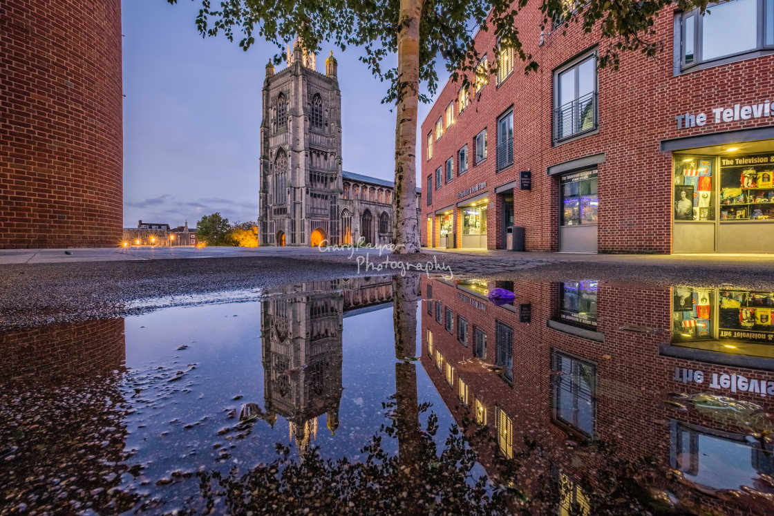 """St peter Mancroft Reflections"" stock image"