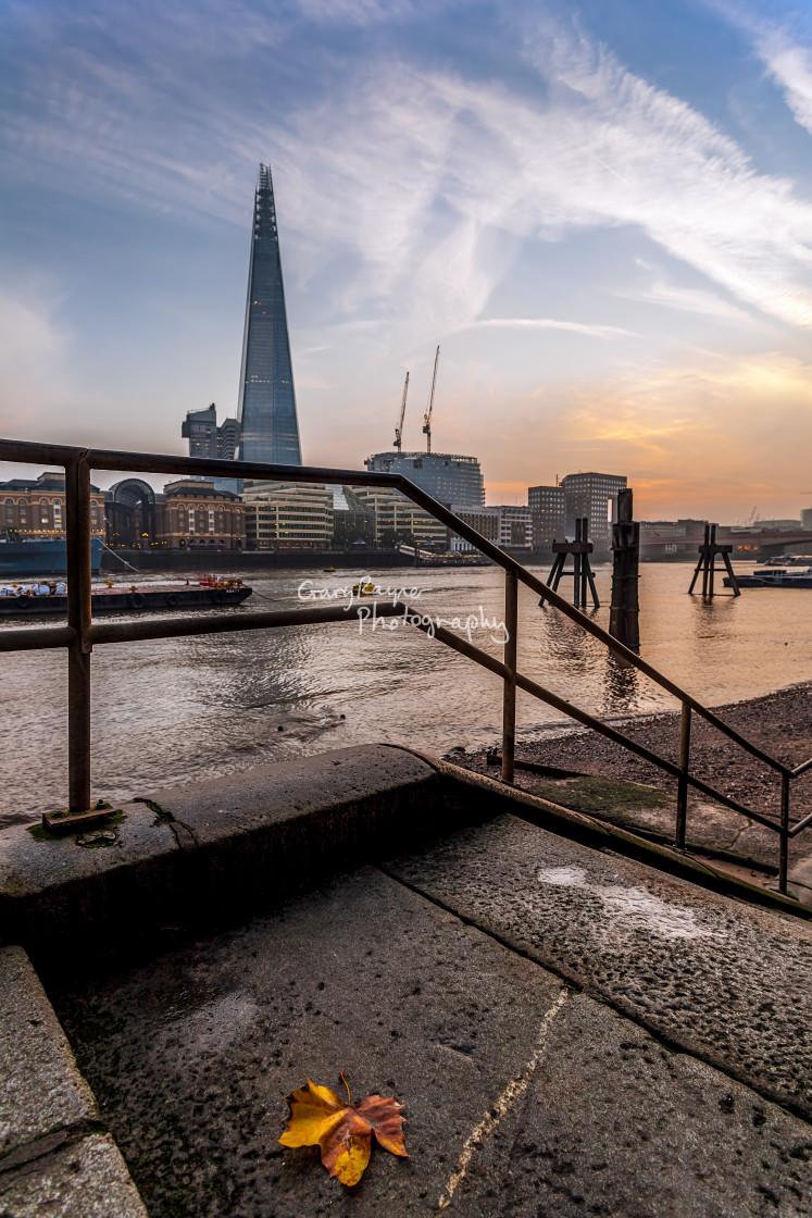 """Thames at Dusk"" stock image"