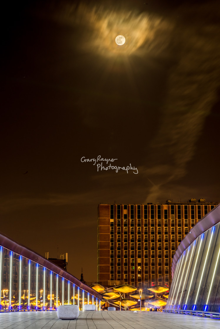 """Full Moon in the City"" stock image"