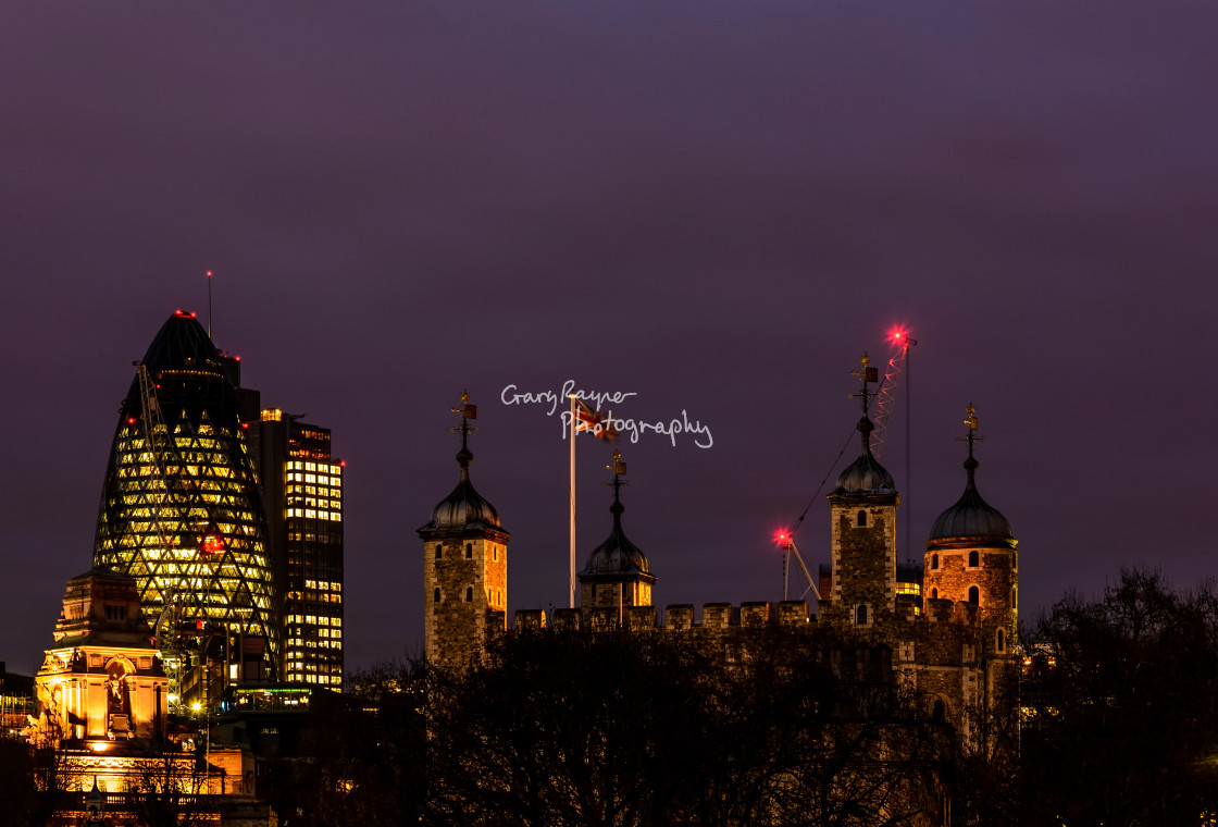"""London Night"" stock image"