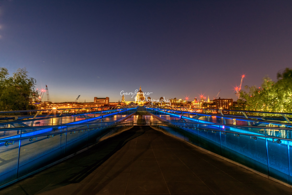 """Londons Millenium Bridge"" stock image"