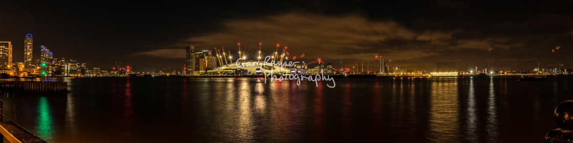 """Londons O2 Panoramic"" stock image"