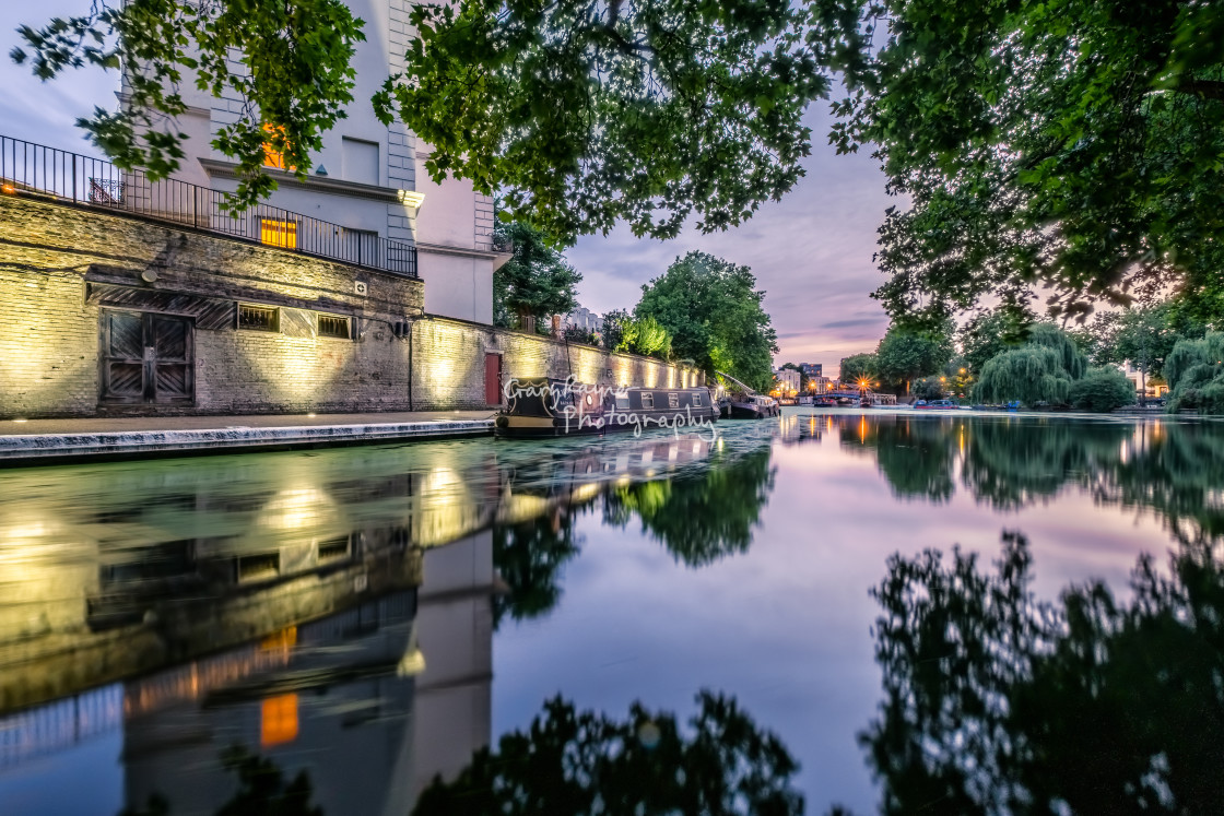 """Evening Twilight Little Venice"" stock image"