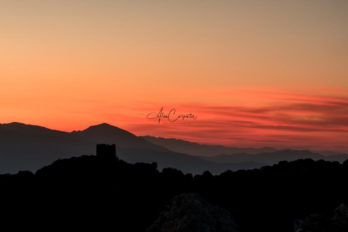 """""""Sunrise on Lefkada"""" stock image"""