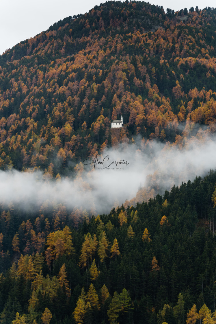 """""""Church in the clouds"""" stock image"""