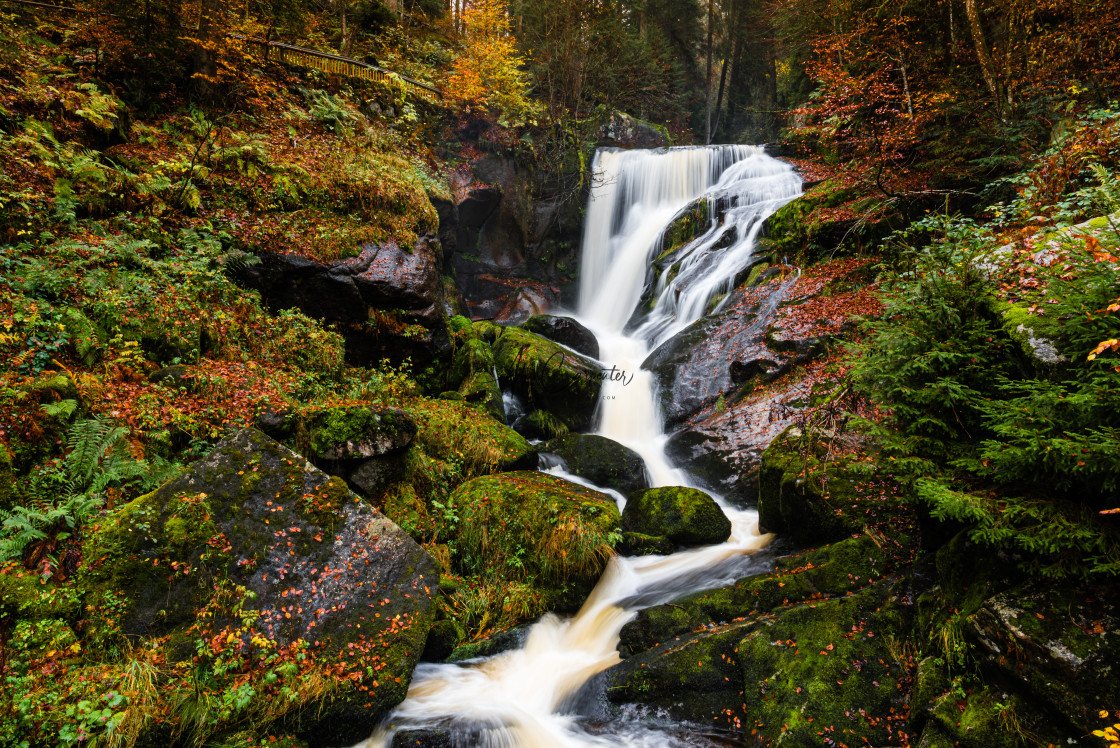 """Triberg Waterfalls"" stock image"