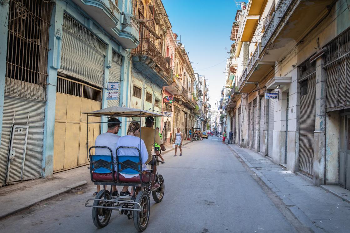 """""""Street scene in Havana"""" stock image"""