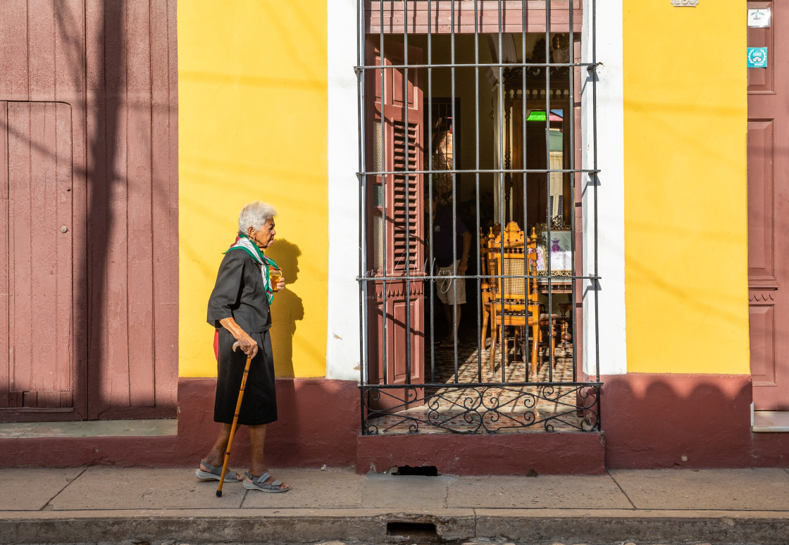"""""""Old lady on streets in Cuba"""" stock image"""