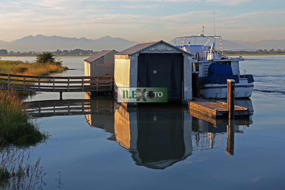 """""""Westham Island dock"""" stock image"""