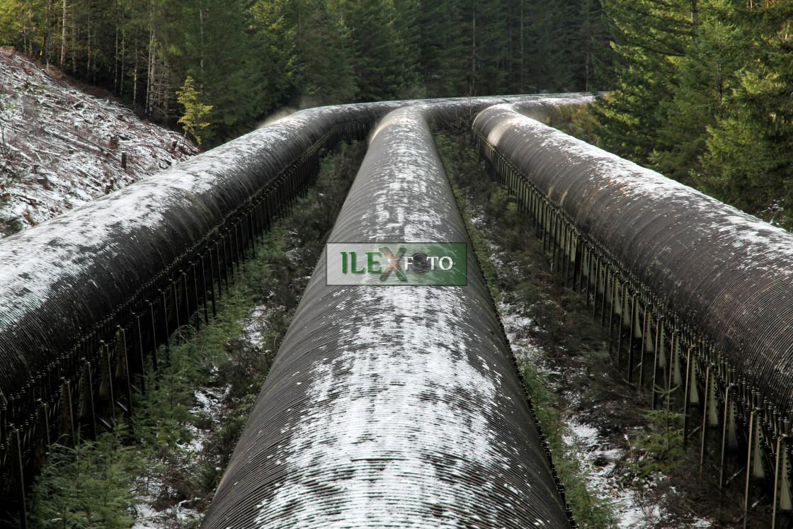 """Feeding the hydropower"" stock image"