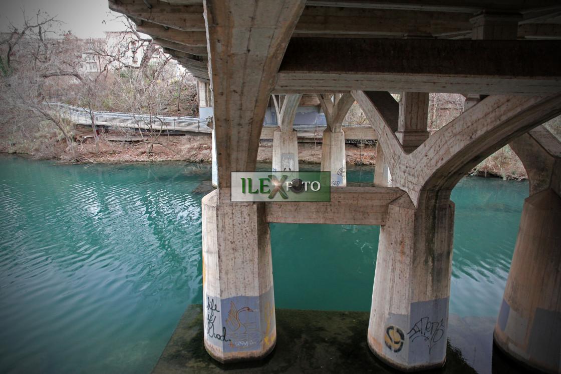 """""""Happiness under the bridge"""" stock image"""