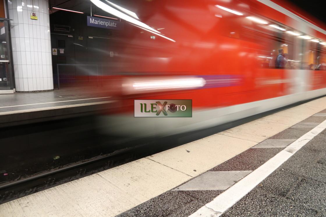 """Waiting for transit"" stock image"