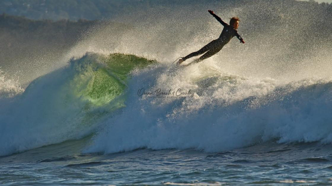 """SURFER FLYING"" stock image"