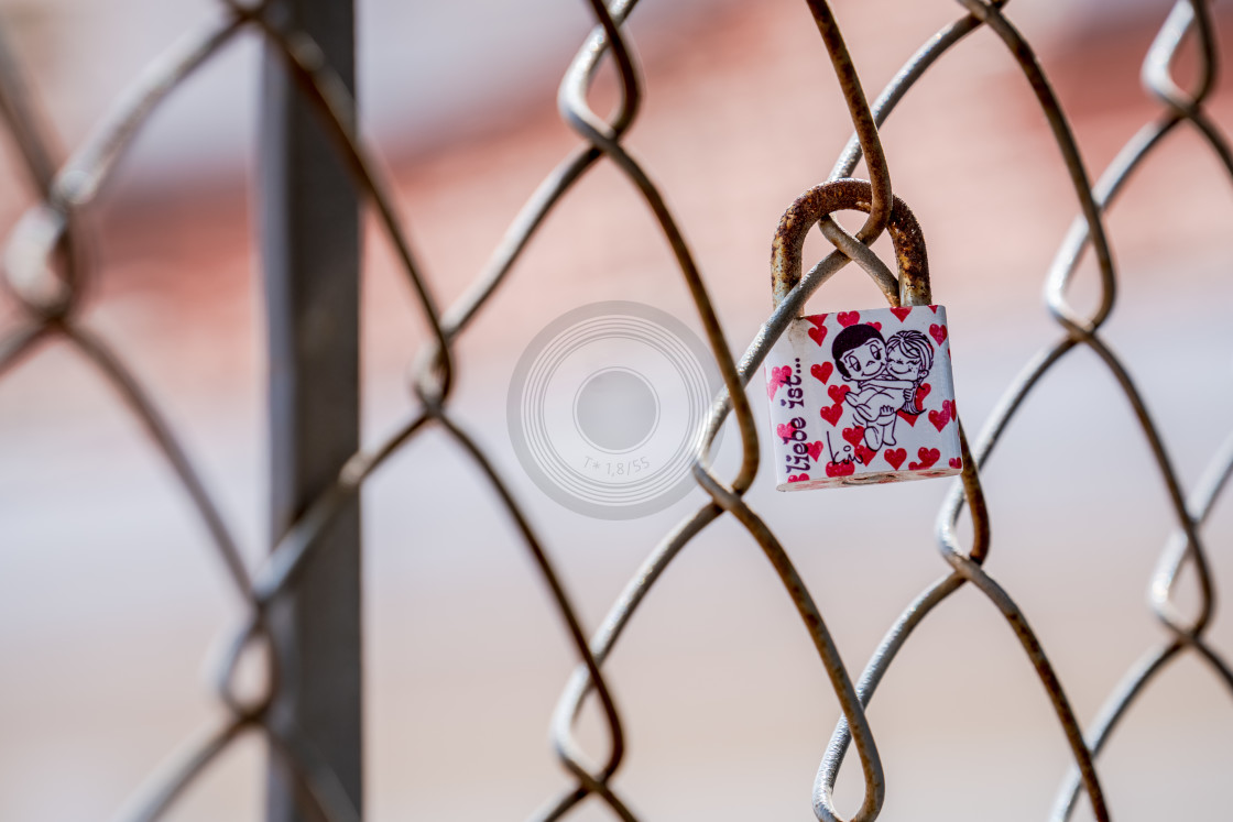 """Single love lock"" stock image"