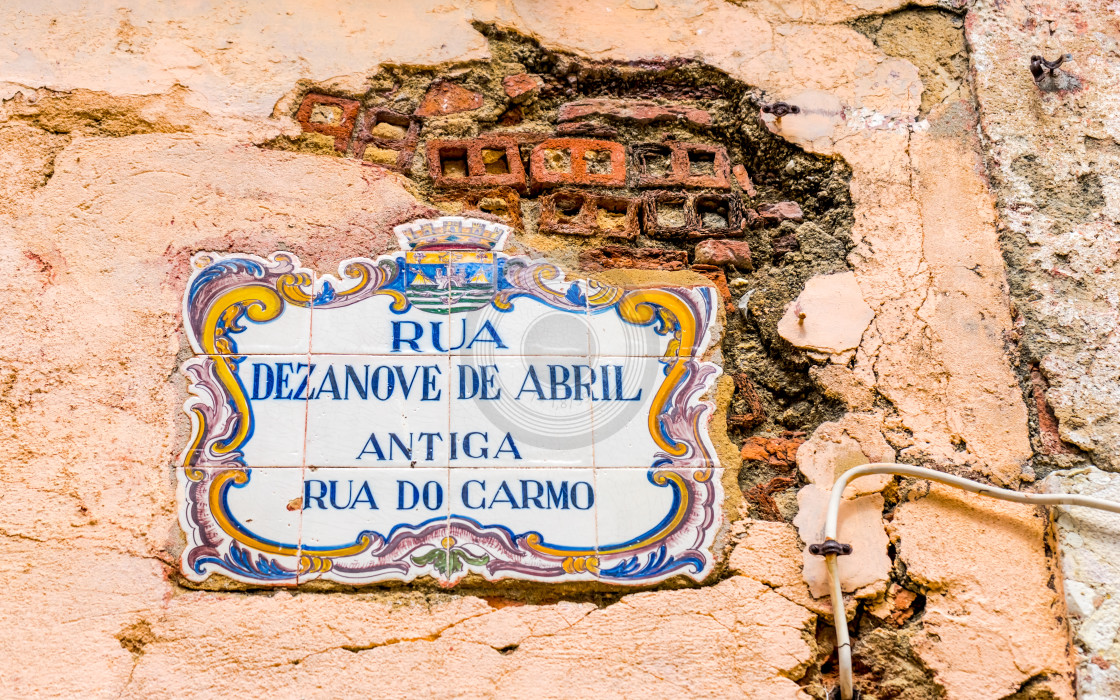 """Traditional Portuguese azulejo tiles"" stock image"