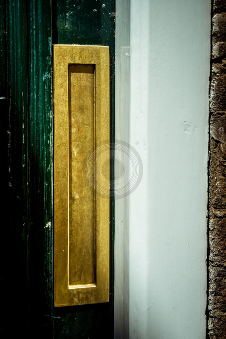 """Gold vertical letterbox"" stock image"