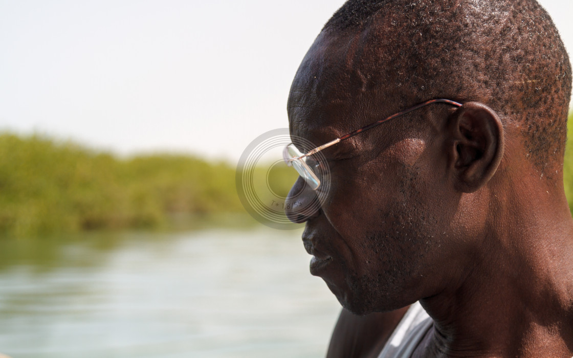 """Portrait riverboat man"" stock image"